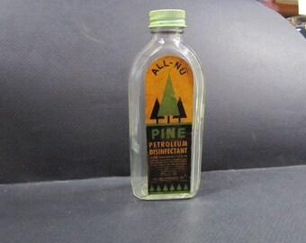 Art  Deco Pine petroleum disinfectant bottle