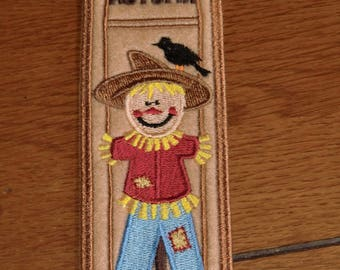 Embroidered Bookmark - Scarecrow - Felt