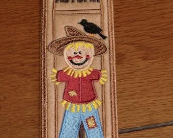 Embroidered Bookmark - Scarecrow - Felt