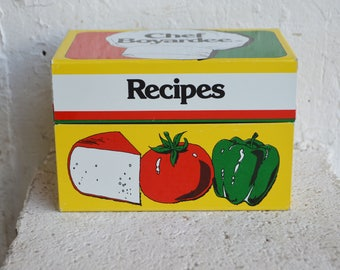 Chef Boyardee Recipes File Tin Box