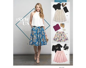 Simplicity Pattern 8176 Misses' Dirndl Skirts in Three Lengths