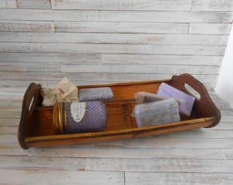 Wood Tray - Bread Tray - Toiletries Tray - Serving Tray - Decorative Tray - Wood Serving Tray - Wooden Bread or Fruit Tray-Kitchen Tray