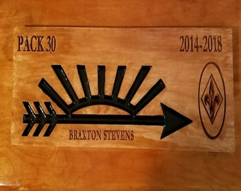 Arrow of Light Plaque - Free domestic shipping