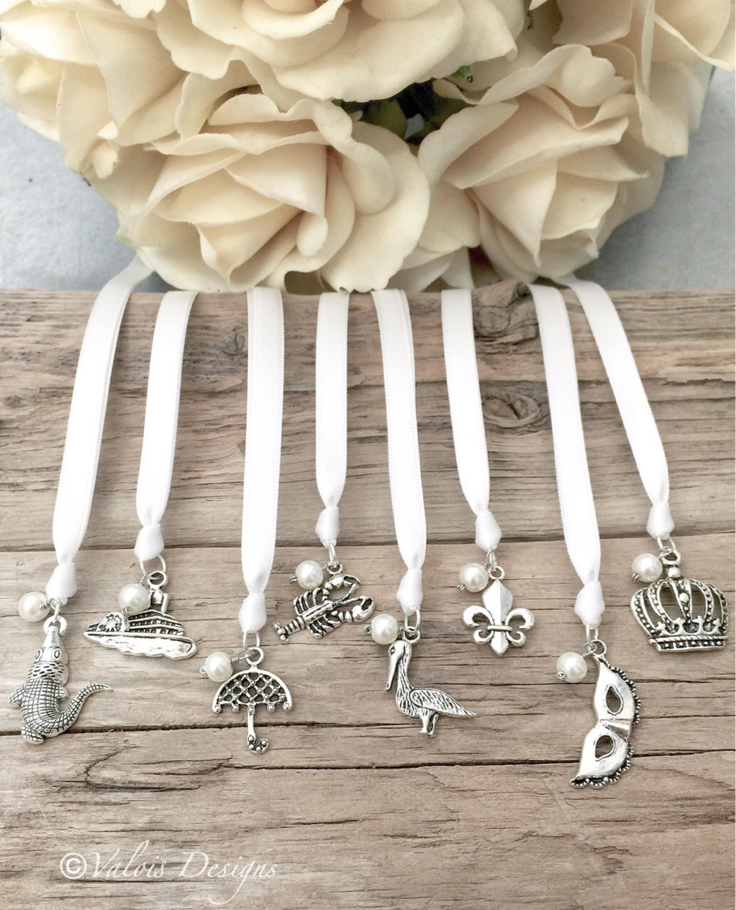 wedding cake ribbon pull new orleans ribbon cake pulls set of 8 wedding charms 23682