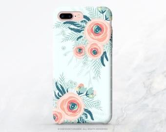 iPhone X Case iPhone 8 Case iPhone 7 Case Mint Floral iPhone 7 Plus Case iPhone 6s Case iPhone SE Case iPhone 6 Galaxy S8 Plus Case N38