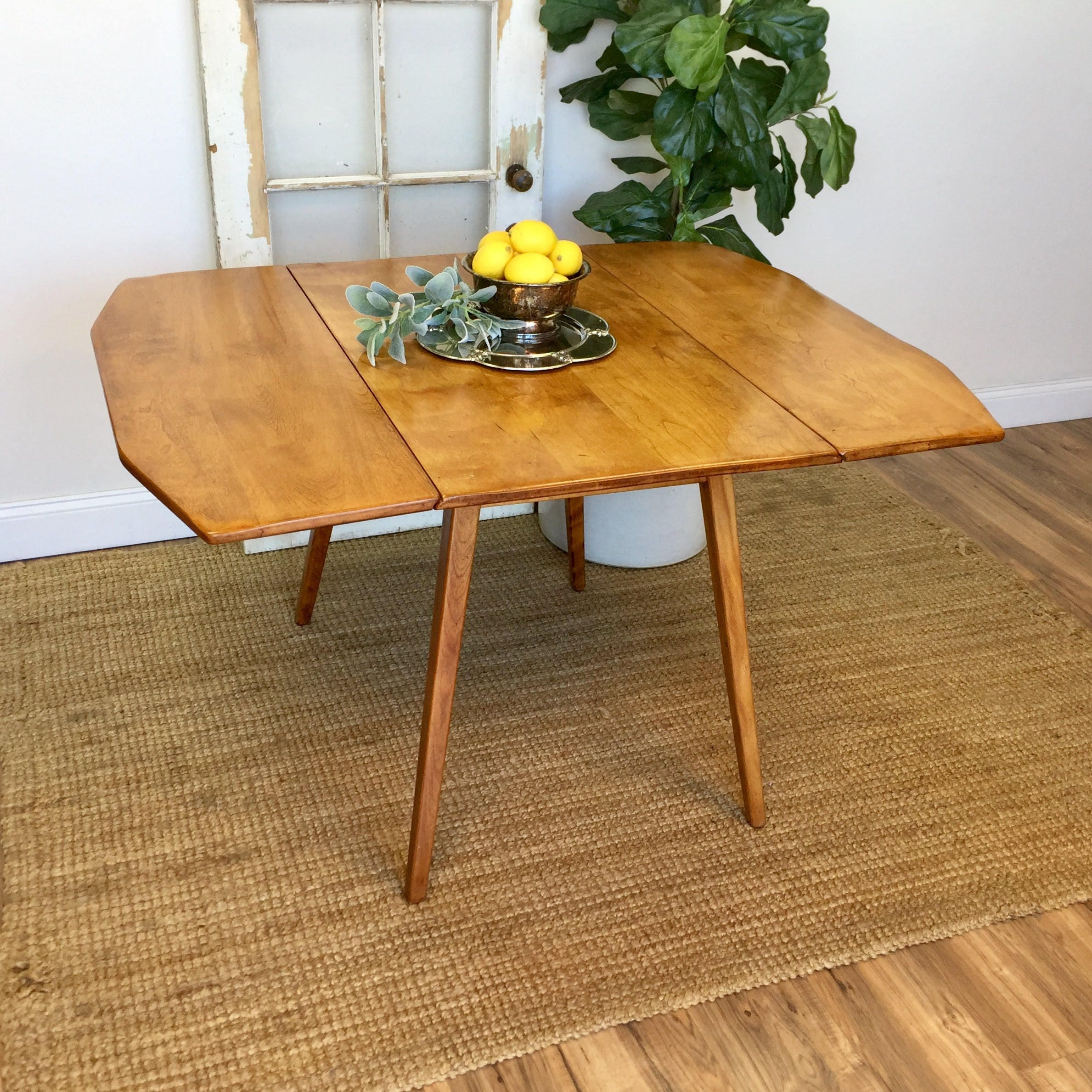Drop Leaf Dining Table - Small Apartment Furniture - Fold Down ...