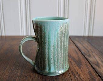 Slab Built soda fired Porcelain Coffee Mug