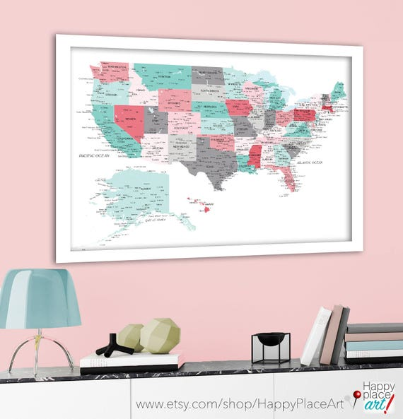 Us Map With Labels Of States usa powerpoint map clipped with no