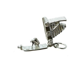 Sterling Silver Opening Camera Charm For Bracelets