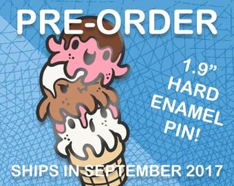 PREORDER: Octopus Ice Cream Cone Hard Enamel Pin