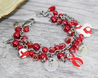 Personalized Pulmonary Embolism Survivor Awareness Bracelet | PE Awareness Jewelry | Pulmonary Embolism Jewelry | PE bracelet | PE survivor