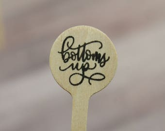 bottoms up Drink Stirrers