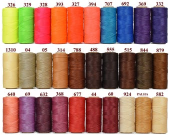8 spools Macrame Cord Linhasita - Jewelry Thread - Waxed Cord - Macrame String - Waxed Polyester Thread