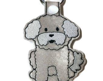 Bichon Frise Key Fob Key Chain, dog mom gift, dog dad gift, fur mom, Bichon lover gift