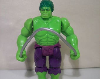 Vintage Marvel Super Heroes Incredible Hulk Crushing Arm Action Figure, 1990 Toy Biz