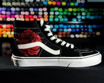 scarpe vans con rose