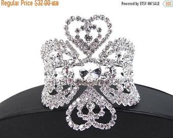 SALE SALE Rhinestone Crystal Cuff Bridal Statement Bracelet