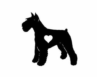 Schnauzer Dog Vinyl Decal | Pets Dogs Decal  | Schnauzer Dog Vinyl Decal  Schnauzer Dog Vinyl Decal decal