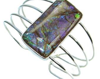 Ammolite Sterling Silver Bracelet - weight 43.90g - dim L- 1 3 4, W- 7 8, T- 1 4 inch - code 6-lip-17-28
