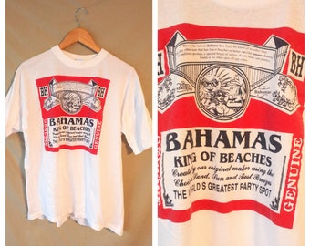 Bahamas Budweiser Bud T-shirt Size XL vintage 90s beer