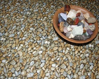 Pebbles Rocks Table Cloth - Awesome Print on Cotton, Square, also available as a table runner