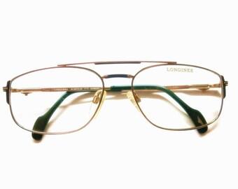 "Longines Aviator Eyeglass Frame by ""Metzler"" | 80s Fashion"