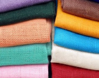 Colored Burlap Fabric - Mint Green Burlap, Peach Burlap, Lilac Burlap, Turquoise Burlap