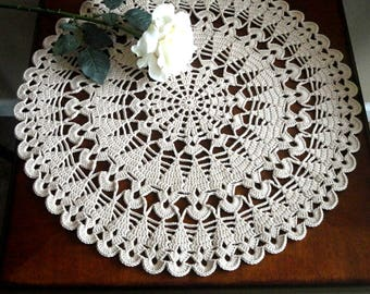 Crochet Placemat Large Placemat Crochet Doily Round Placemat Home Decor Tablecloth Crochet Tablecloth Women Gift