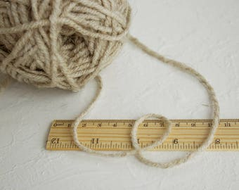 Worsted weight pure linen yarn, natural grey color