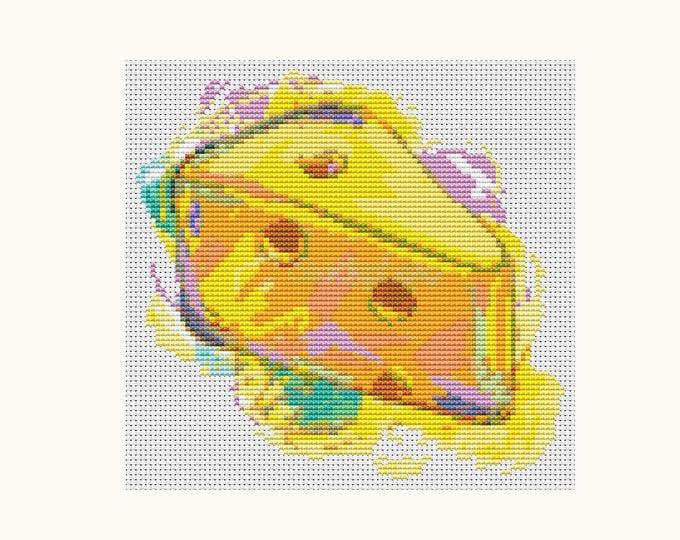 Mini Cross Stitch Pattern PDF, Embroidery Chart, Art Cross Stitch, Kitchen Mini Series: So Cheesy (TAS037)