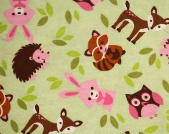 Pre-Order, Forest Animals, Flannel, Cloth Diaper Wetbag, Diaper Pail Liner, Diaper Bag, Day Care Size, Bag with Handle