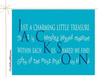 First Birthday Boy Gifts Personalized Baby Name Nursery Decor Kids Gift Nursery Art Toddler Gifts Boy Baby Boy Poems Name Art 8x10 Jackson