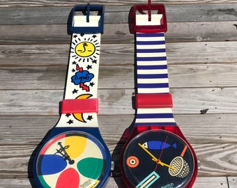 Vintage Maxi Swatch Watch Wall Clock / 1991 / Made in Switzerland / Jumbo Swatch Watch / ORIGINAL BOX - Sold Seperately