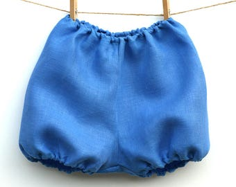 Cerulean blue linen Bloomer