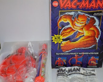 Vintage 1980's New Vac Man With Pump And Box