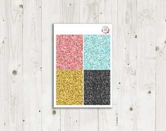 Trendy Geometric Glitter Headers