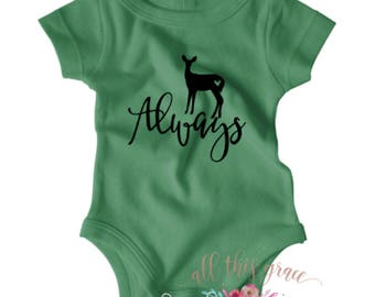 Harry Potter Baby Clothes - Always - Harry Potter - Harry Potter Shirt - Hipster Baby Clothes - Nerdy Baby Onsie - Harry Potter Onesies