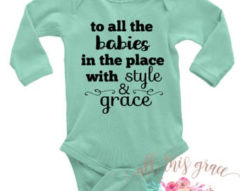 Style & Grace - Hipster Baby Outfit - Gift for Newborn - Gender Neutral Gift - Baby Shower - Hip Hop Baby Clothes -  Trendy Baby Outfits