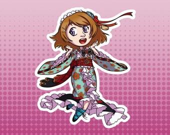LLSIF Love Live School Idol Festival / School Idol Project - Hanayo Koizumi Taisho Roman Large Die Cut Vinyl Fan Art Sticker