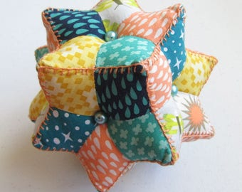 Diamond Ball Pincushion Sewing Pattern - Moravian Star