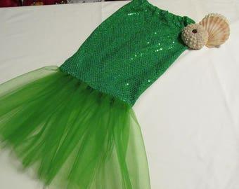 Mermaid Tail Mermaid Costume  Mermaid Skirt  Girls Mermaid Skirt sizes 2 thru 6