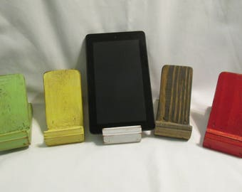 Ipad Stand / Tablet Stand  / Cell Phone Stand Wooden Rustic Tablet / Cell Phone Stand