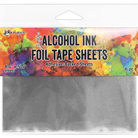 Tim Holtz® Alcohol Ink Foil Sheets adhesive-backed thin metal sheets ideal to colorize with Alcohol Ink