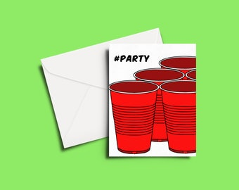 Party Pong Greeting Card