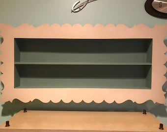 1950s Cottage Chic Shadow Box / Kitschy Wall Shelf / Cute Shelf / Pinup Home Decor