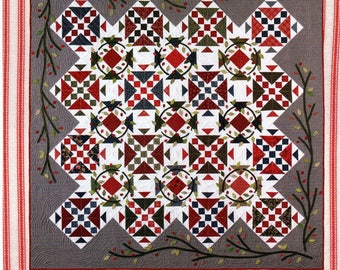 Quilt Pattern Berries, Branches & Nest Hopskotch Quilting Co. by Peggy Williams With Applique and Embroidery Patterns