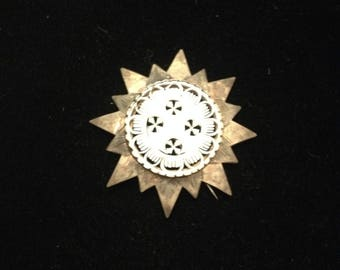 Antique Mother of Pearl Pendant/Brooch