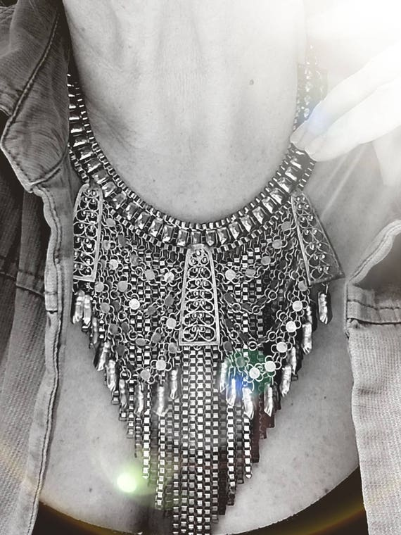 Vintage Layered Bib Necklace