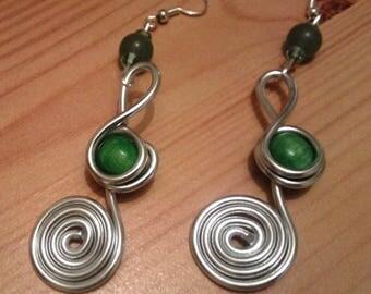 Green Aluminum earrings