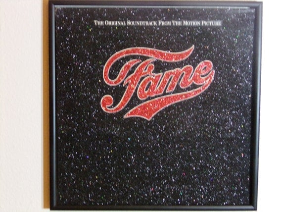 Glittered Record Album - Fame - The Original Soundtrack From The Motion Picture
